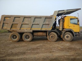 2015 model Used Bharat Benz 12 wheel  Tipper for sale in Hospet by owners online at best price, Product ID: 450056, Image 1- Infra Bazaar