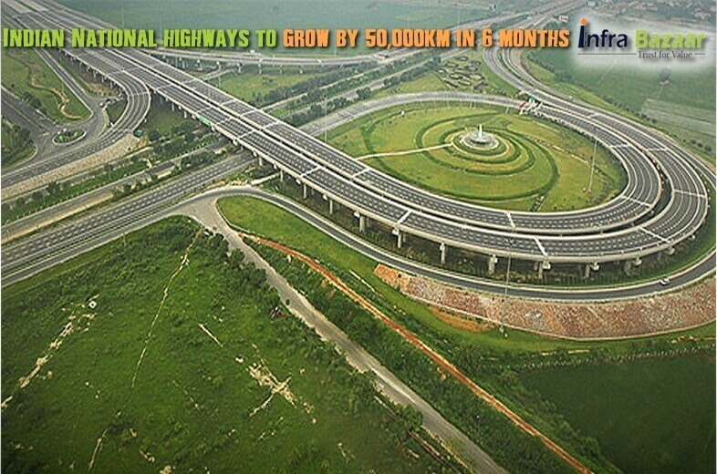 Indian National highways to grow by 50000 km in 6 months  Infra Bazaar