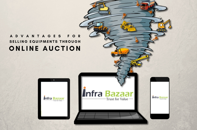 Advantages for Selling Equipment through Online Auctions |Infra Bazaar