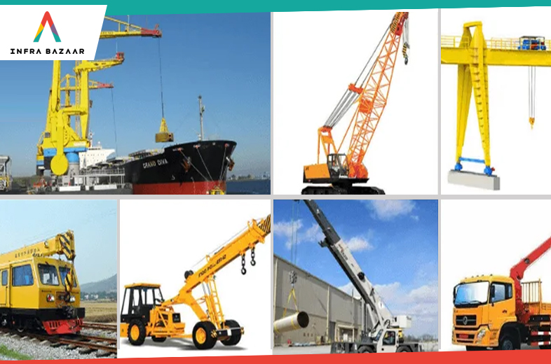 7 Types of Cranes in Construction and Their Uses - Infra Bazaar