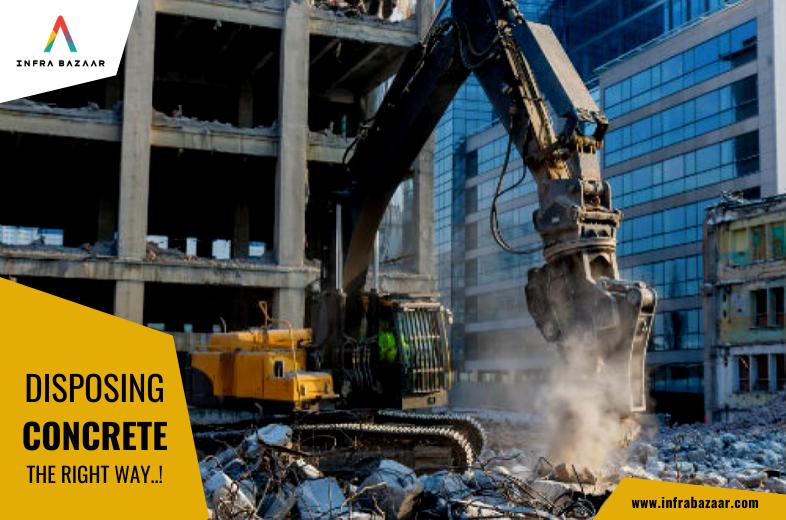 Excavator with Breaker | Excavator Breaker | Disposing Concrete | Infra Bazaar