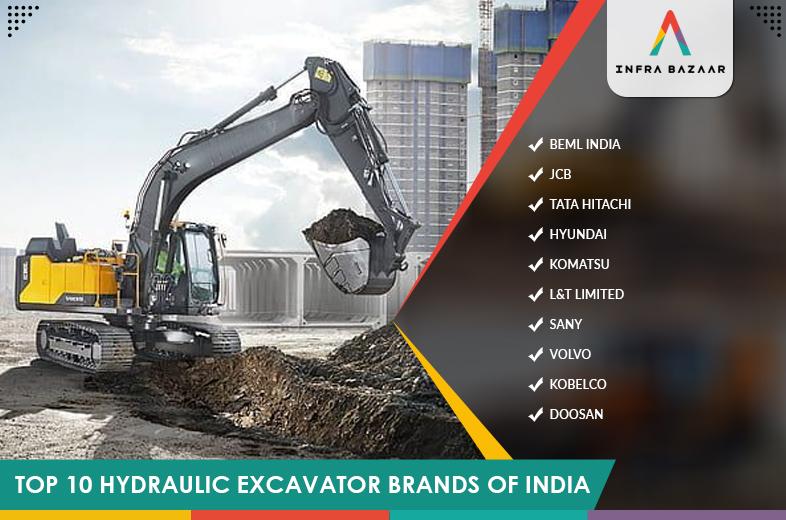 Top 10 Hydraulic Excavator Brands Of India - Infra Bazaar