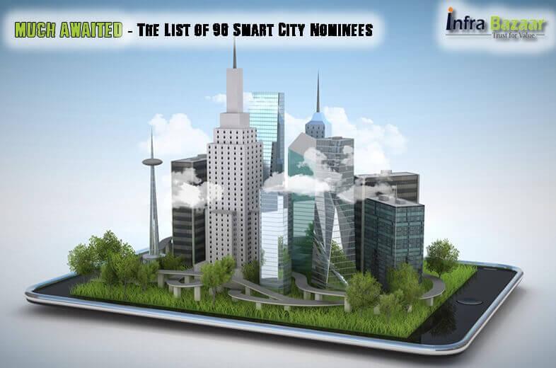 Much Awaited The List of 98 Smart City Nominees |Infra Bazaar