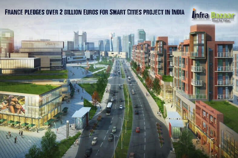 france pledges over 2 billion euros for smart cities project in india infra bazaar infra bazaar. Black Bedroom Furniture Sets. Home Design Ideas