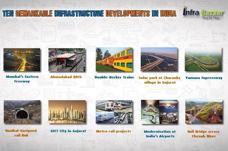 Ten remarkable infrastructure developments in India  Infra Bazaar