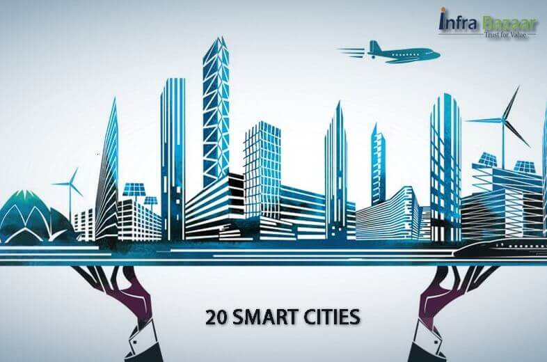 The first list of 20 smart cities under 'Smart Cities Mission' announced |Infra Bazaar