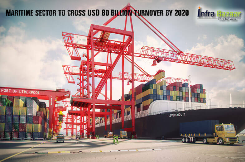 Maritime sector to cross USD 80 Billion turnover by 2020 - Indian Registrar of Shipping |Infra Bazaar