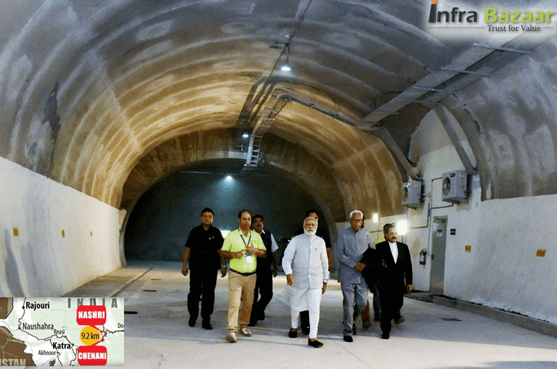 India's longest all weather tunnel In Jammu and Kashmir |Infra Bazaar