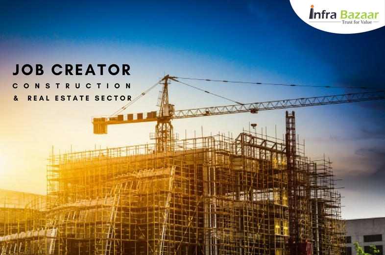 Construction and Real Estate Sector to be the Key Job Creator  Infra Bazaar