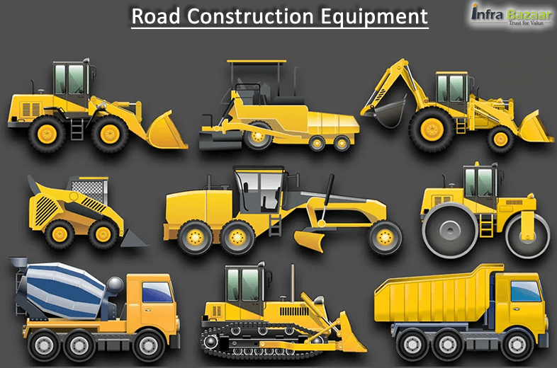 Road construction equipment and their uses |Infra Bazaar