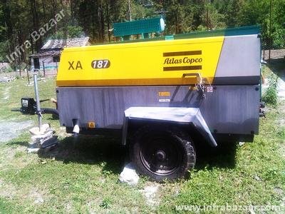 2021 Atlas Copco XA -187 Compressor for rent in Kullu, Himachal Pradesh, India by owners online at best price, Product ID: 445063, Image - Infra Bazaar